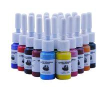 20 Couleurs / bouteilles d'encre de tatouage Pigment Kits Set Body Art Tattoo 5ml Professional Beauté Peintures de maquillage permanent Fournitures