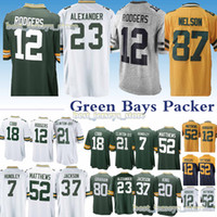 bf5739d0627 Aaron Rodgers Jaire Alexander Green Bays 33 Packer jerseys Jordy Nelson  Josh Jackson Jimmy Graham Kevin new jersey 2019 Design sweater