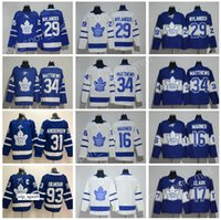 Centennial Classic Classic 100th Hockey Blue Blue Toronto Maple Leafs Jerseys 34 Auston Matthews 29 William Nylander Frederik Andersen Doug Gilmour