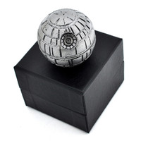 Death Star Grinder 3 strati 55mm Herb Grinders Pollen Catcher in lega di zinco metallo PokeBall Grinder con confezione regalo DHL libero