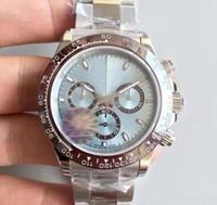 New Mens Movimento Automático Assista Cerâmica Bezel Sapphire Vidro Tona Série M116519 Simples Dial Aço Inoxidável Fecho Sólido Masculino Relógios
