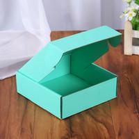 vendita calda ondulato scatole di carta regalo colorato imballaggio pieghevole Box Piazza imballaggio BoxJewelry imballaggio scatole di cartone 15 * 15 * 5cm
