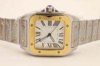 Top Designer Hommes Regardez Santo WSSA0018 Homme Montre mécanique automatique Mécanique Cadre Blanc Sapphire Verre Sangle En Acier Inoxydable Bracelet de luxe