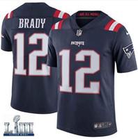 6a640f8f0 Tom Brady jersey Super Bowl LIII Nova Inglaterra Rob Gronkowski Patriots  Julian Edelman personalizado camisas de futebol americano dos homens das  mulheres ...