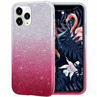 3 iPhone X XR XS Max 8 7 6 5 Samung S5 S6 S7 Kenar S8 S9 Artı Not 9 A6, A8 J2 Pro J4 J6 J8 2018 için 1 Bling Glitter Gradyan TPU PC Case