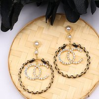European And American Letter Long Earrings Japanese And Kore...