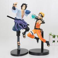 21-25cm Naruto Action-Figur Uzumaki Naruto Sasuke Uchiha Pvc Action-Figur Spielzeug Naruto Abbildung, T191214