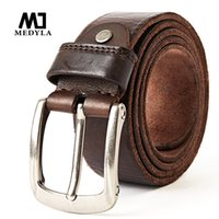 Medyla New Fashion Brand Luxus Ledergürtel Für Männer Vintage Top Vollnarben Echtlederband Für Cowboys Jeans Bund Y19051803