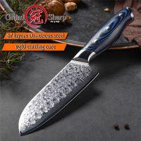5-Zoll-Damaskus Küchenmesser 67 Schichten japanische Santoku Messer Japanische Damaskus Edelstahl VG-10-Chef-Messer Kochen Werkzeuge Geschenk