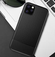 Nueva caja del teléfono del diseñador para el iphone 11 pro max 6 7 8 TPU Volver fibra de carbono Caso super grano cubierta del teléfono