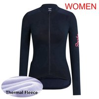 Kadın Rapha Takım Bisiklet Kış Termal Polar Jersey Bisiklet Uzun Kollu Gömlek Yarış Bisiklet Giyim Ropa Ciclismo Bisiklet Kıyafetler Y051710