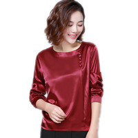 blusa mujer Fashion Silk blouse Women blouses Shirts Female ...