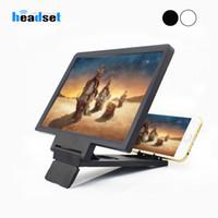 Loupe écran Film 3D Amplificateur 3x Zoom Elargi Téléphone support écran vidéo Amplificateur de rayonnement Loupe de bureau Eye