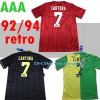 Top Quality 1992-1994 Homem Retro Home Away 92-93 Giggs, Scholes, Beckham, Neville Soccer Jersey Melhor Qualidade United Shirt Frete Grátis