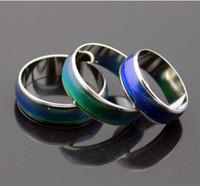 2PCS خاتم المزاج الأزياء تغيير الألوان خواتم يتغير لونها لدرجة حرارتك تكشف بك عاطفة رخيصة الأزياء والمجوهرات