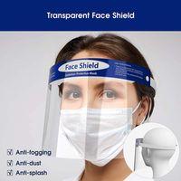 Mascarilla protectora transparente Anti-niebla Face Shield Aislamiento de cara completo Protección de visera Cara completa Prevenir salpicaduras Gotas de salpicadura Seguridad