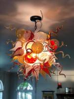 الزجاج المنفوخ الثريا زهرة زجاج الثريا آرت ديكو يرتكز في مهب مورانو الفن الحديث زجاج الثريا الإضاءة