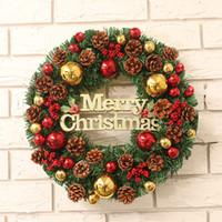 Ana Kapı Vitrin Dekorasyon 30/45 / 60cm Noel Çelenk Garland Asma kolye