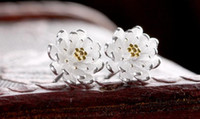 925 Sterling Silver Lotus Flowere Stud Earrings for women S-...