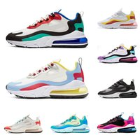 New Nike Air Max 270 React 27C Bauhaus Optical Hyper Jade Bright Violet Electro Green Designer Blue Void Sneakers Chaussures Men Women Running Shoes 7-12