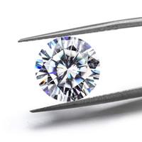 0.1ct 7ct real f renk fl yuvarlak parlak kesim 8 kalp 8 oklar Moissanite taşlar sertifikalı laboratuvar elmas bir sertifika ile
