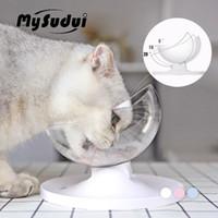 MySudui Antideslizante Gatos Tazón Para Perros Mascotas Plato Redondeado Separable Gato Dispensador de agua Gatos Cuencos Alimentadores Mascotas Dla Psa