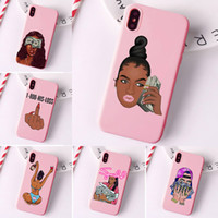 MAKE MONEY Cash Black head Girl Fundas чехол для телефона iPhone 11 Pro Max X XR XS 8 7 6s Plus матовые конфеты силиконовые чехлы