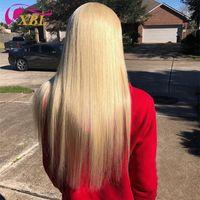Xblhair Blonde Menselijk Haarbundels 3 Bundels 613 # Menselijk Hair Extensions en One Oor To Ear Lace Frontal