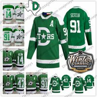 2020 Dallas Stars Winter Jersey classico # 14 Jamie Benn 91 Seguin 47 Alexander Radulov Blank Verde Bianco Uomini Bianchi Donne Gioventù Donne Kid Regalo Hockey