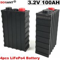 4PCS /ロット3.2V 100AH LiFePO4電池3C放電率電動自転車/太陽系リチウム電池100AH送料無料