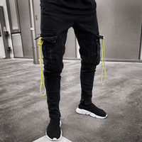 New Autumn Men Pant Slim Racer Biker Jeans Fashion Hiphop Sk...