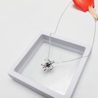 10 stücke Medaillons Halskette Schildkröte Form 925 Sterling Silber Perle Käfig Anhänger Modeschmuck für Geburtstagsgeschenk
