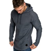 Mode-Marque Automne Mode Hommes Casual Sweats Homme Couleur unie O Col capuche Sling Sweat-shirt à capuche pour hommes Hip Hop 5XL Drop Shipping