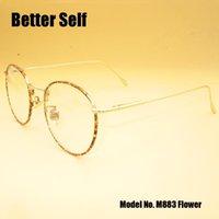 Full Rim marcos ópticos de las lentes de la vendimia M883 Ronda Mujer Mejor Espectáculo Auto vidrios llanos