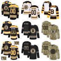 Hockey hielo Boston Bruins 52 Sean Kuraly Jersey 63 Brad Marchand 73 Charlie McAvoy Matt Grzelcyk Matt Grzelcyk Noel Acciari Gradiente de la moda