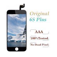 IPhone 6 S Için orijinal LCD Artı LCD Ekran Panelleri Çerçeve Tam Meclisi ile Ekran Dokunmatik Digitizer Değiştirme