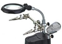 HD mit LED-Leuchten 10 Mal Lupe eine Tasche Eisen, Multifunktions-Desktop-Wartung Lupe, Aufbügeln Schweißstand
