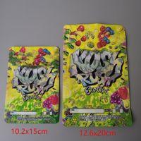 Zwei Größe Kush Eile exotics Taschen wiederverschließbaren Reißverschluß für frische Blumen Kindergesicherte Verpackung 3.5g oder 7 g mylar-Taschen Kush mylar-Taschen RUSH