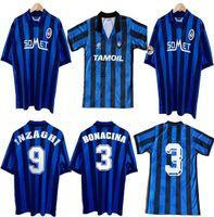 1991 92 96 97 Atalanta Retro Soccer Jersey CanigGia Stromberg Paulino Camisetas de Futbol Futebol Uniforme Tailândia Qualidade Football Camisas