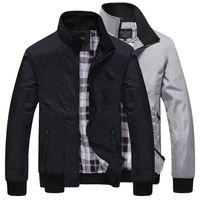 Erkek Bombacı Ceket Erkekler Gri Softshell Rüzgarlıklar Yağmur Rahat Ceketler Gevşek Ince Ceket Fermuar Streetwear Siyah, Mavi Asya Boyutu