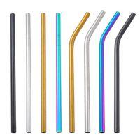 Réutilisable 8MM Paille pour boire en acier inoxydable de qualité alimentaire Paille SS304 Bar gros coloré paille Outils potable