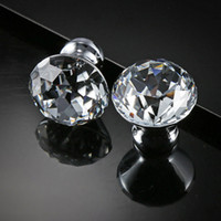 Narin Kristal Cam Topuzlar Dolap Pulls 30mm Elmas Şekli Tasarım Kolları Çekmece Kolları Mutfak Mobilya Dolabı Kolları DH0921 T03