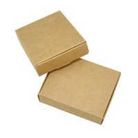 Brown 7.3 * 5.8 * 2,6 centimetri Kraft Pacchetto scatola di carta sapone fatto a mano Scatole di cartone a nozze lo zucchero candito 50pcs Kraft scatole di cartone