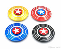 Fidget Spinner capitaine américain roulement rapide de Spider Finger main Spinner gyro EDC ADHD Rotation Antistress Aluminium alliage Man Finger Toys