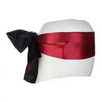 Sexspielzeug für Paare Eye Patch Maske Ribbon Bondage Produkte Flirten Blindfolie Weiche Seidensatin Doppelschicht Blind Masken Schlafruhe Hochzeit