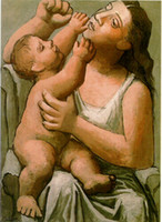 Pablo Picasso classica pittura a olio Mother And Child Mere Et Enfant Neoclassicismo 1921 100% fatto a mano da esperti Pittore Picasso478