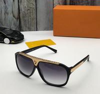 1pcs alta qualidade Marca Óculos de sol da evidência óculos de sol Óculos Eyewear das mulheres dos homens preto polido óculos de sol vêm com caixa caso