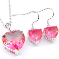 Luckyshine Wedding Jewelry Sets 925 silver Bi Colored Tourma...