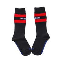 VETEMENTS çorap mens tasarımcı kapalı Siyah Beyaz Çorap Gelgit Marka Hip Hop Tarzı Çorap Mektup Nakış Sporcular çorap