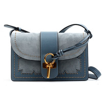 Designer- Special Benefit Matting Rivet Genuine Leather Shoulder Piccola Piazza del singolo pacchetto Satchel